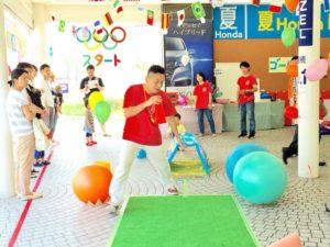 「こどもオリンピック10種競技のタイムトライアル!」企画・運営・進行 Honda Cars 奈良中央店様記念イベント委託